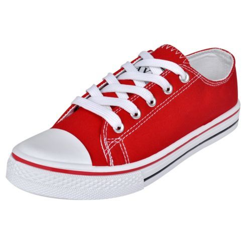 Ebay Angebot Damen Sneaker Low Top Canvas Sport Schnür