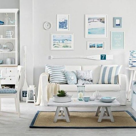 Beach And Coastal Living Room Decor Ideas | ComfyDwelling.com