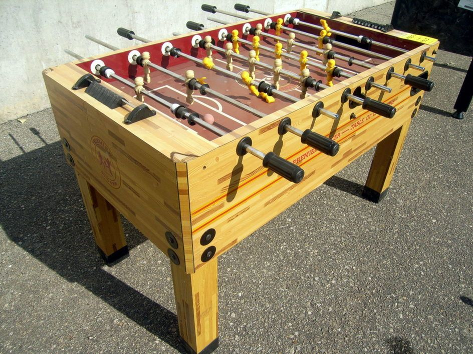Do You Want To Have Your Very Own Foosball Table Bidding Starts At - Premier soccer foosball table