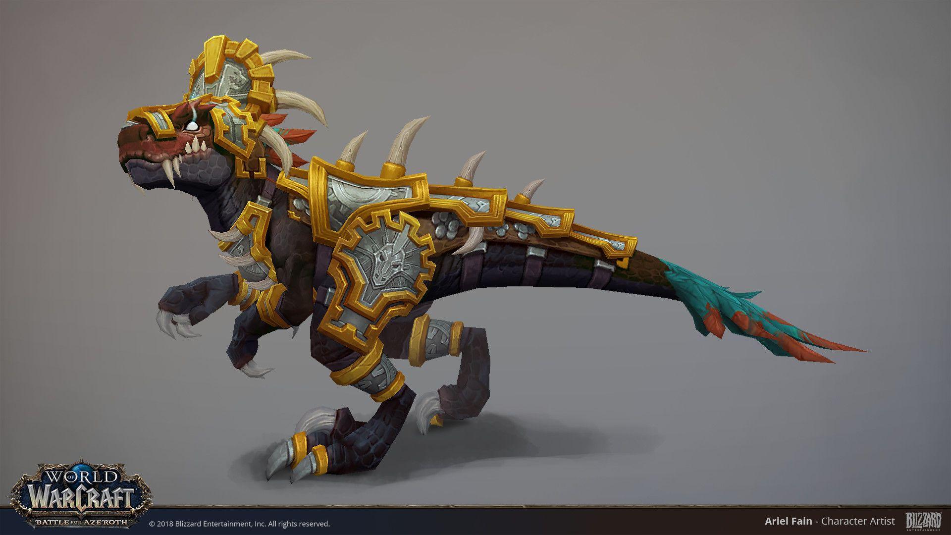 Artstation Bfa Ravasaur Ariel Fain World Of Warcraft