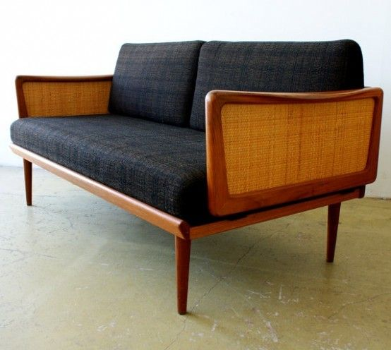 Elegant Mid Century Sofa Design In Attractive Models : Unique Dark Fabric  Mid Century Sofa. Modernes SofaSofa Mitte Des JahrhundertsDesign ...