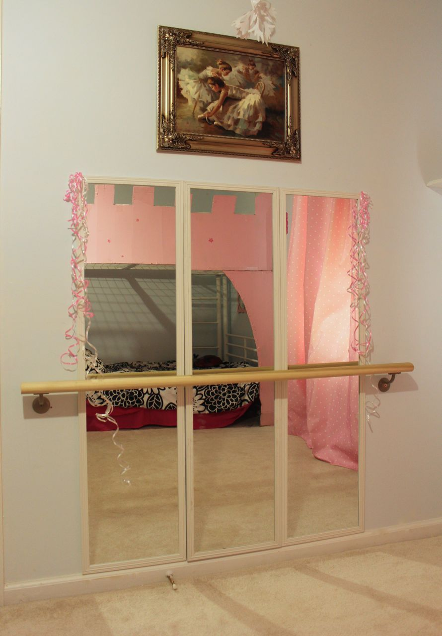 Wohnideen Depot diy ballet studio in our room success mirrors were