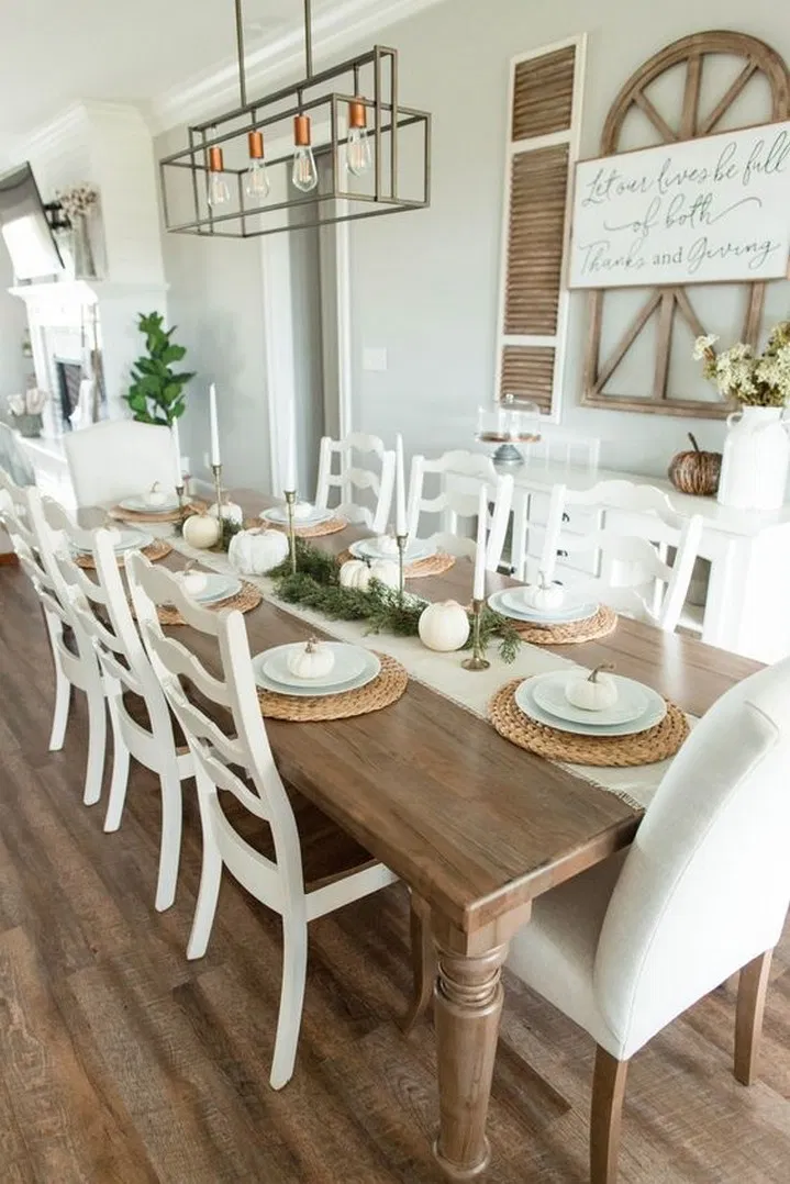 9 Adorable Dining Room Table Decor Ideas 5 Farmhouse Dining Room Table Dining Room Table Decor Dining Room Inspiration