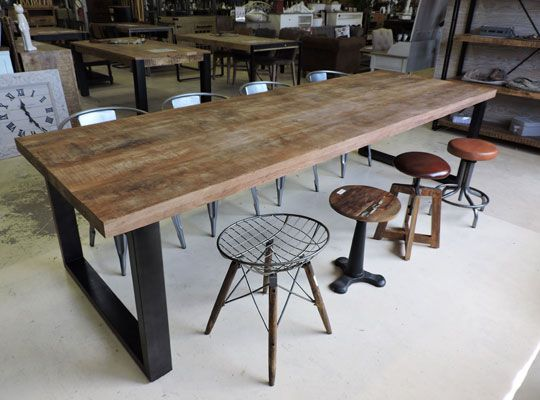Salle à manger style Industriel | atelier | Pinterest | Tables and Lofts