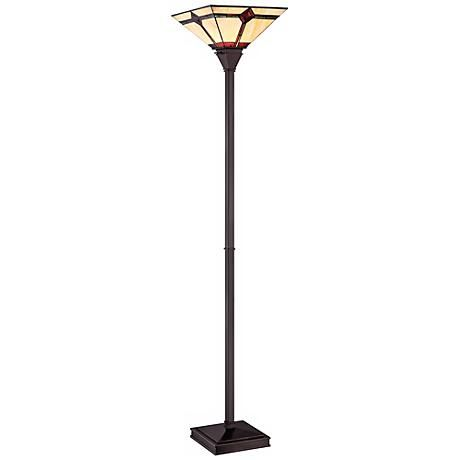 Lite Source Karysa Tiffany Style Torchiere Floor Lamp V9521 Lamps Plus Torchiere Floor Lamp Floor Lamp Tiffany Style