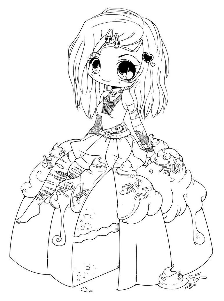 Coloring PageEndearing Chibi Coloring Page Chibi Coloring