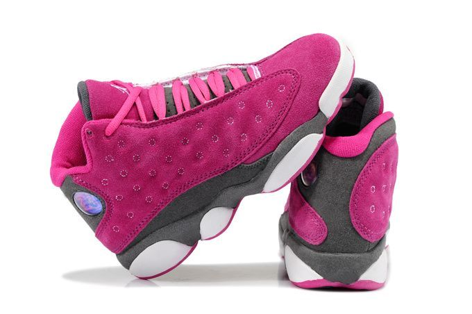 Nike Air Jordans- Women Air Jordan 13 Suede Pink Gray Shoes