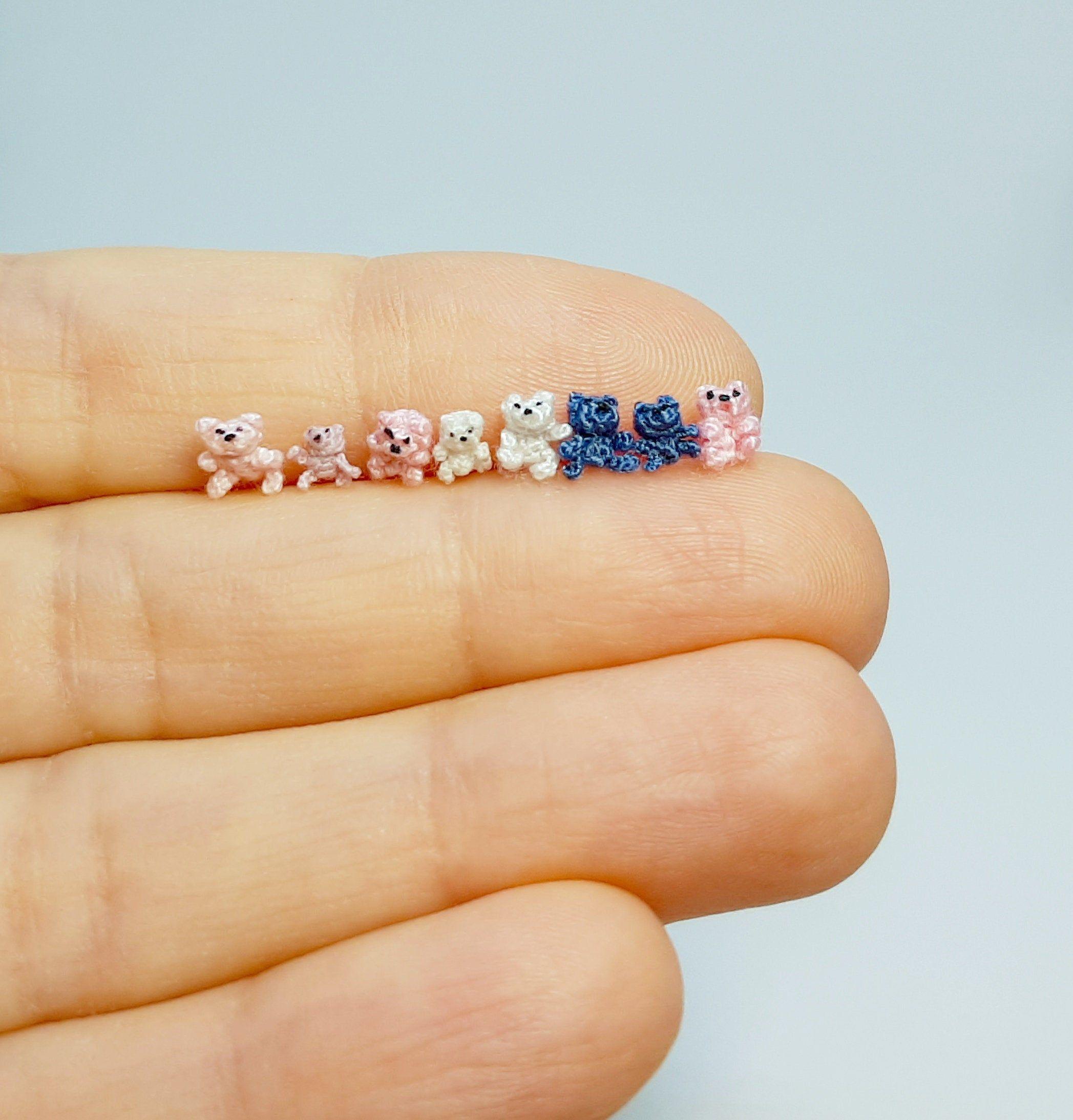 Micro Crochet Bear PDF Pattern. Micro Crochet Tedd