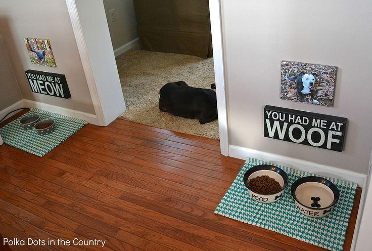Personalized Pet Food Area Pet food area, Dog food area