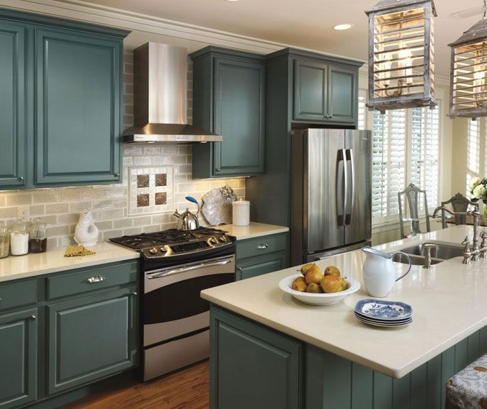 Add a coastal appeal to your kitchen with the Oasis cabinet finish ...