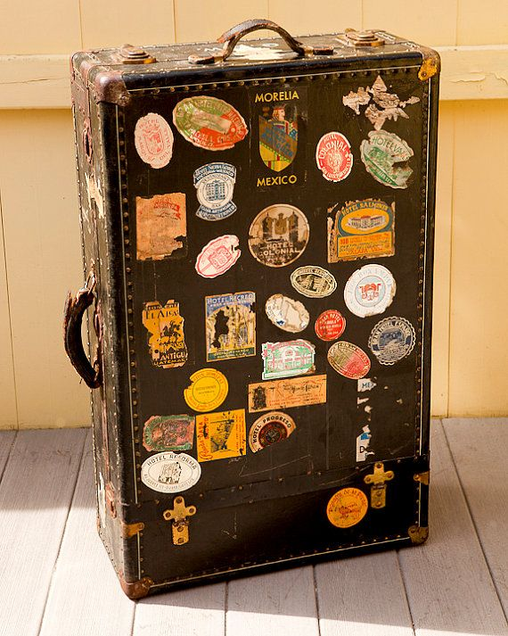 Steamer Trunk Luggage Suitcase Travel Stickers Vintage Suitcases Steamer Trunk