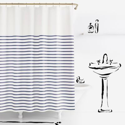 Kate Spade New York Harbour Stripe Shower Curtain In Striped