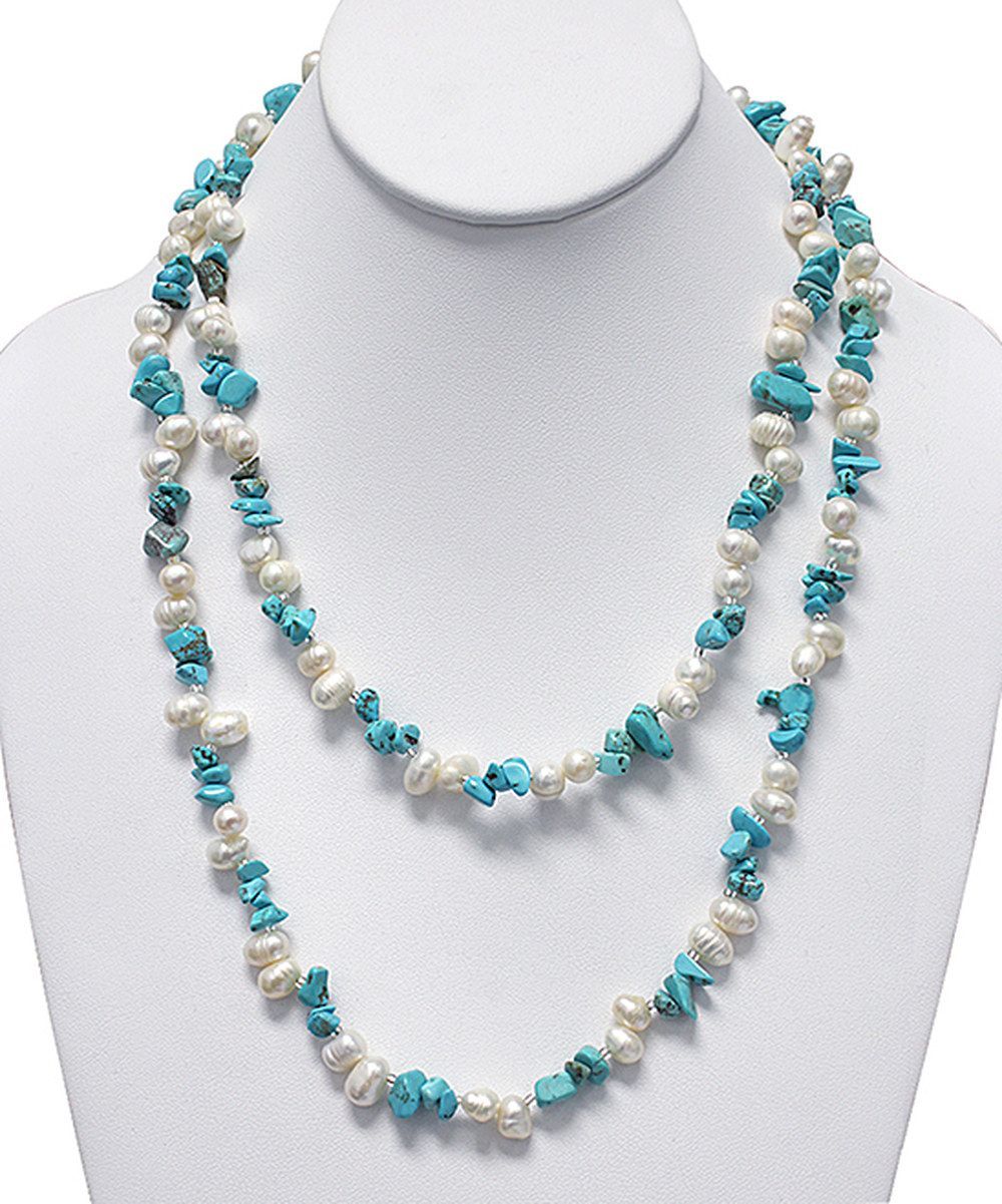 Pearl & Turquoise Layered Necklace