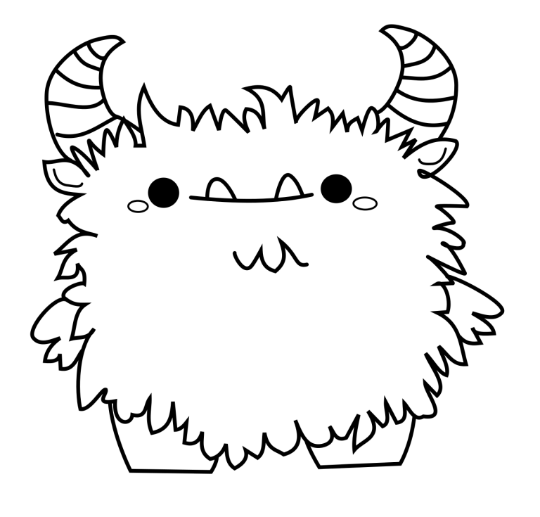 freebies  monster malen ausmalbilder niedliche monster