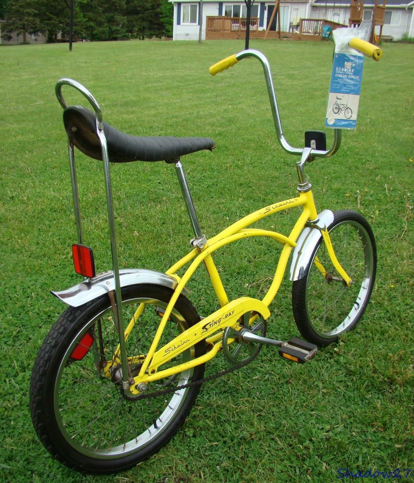 61a64d41c4d 1975 SCHWINN STINGRAY BANANA SEAT MUSCLE BICYCLE VINTAGE S7 KRATE LEMON  YELLOW