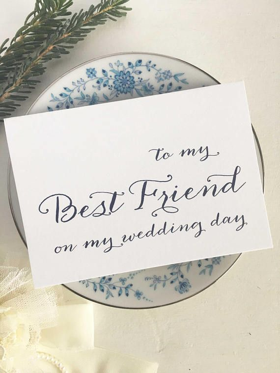 To My Best Friend Wedding Card Gift For On Day Bestie