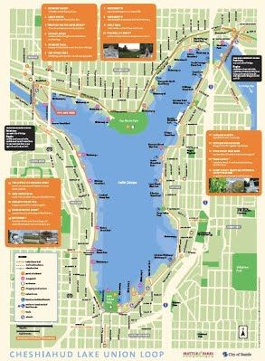 South Lake Union Trails Lake Cheshiahud Loop and Ship Canal