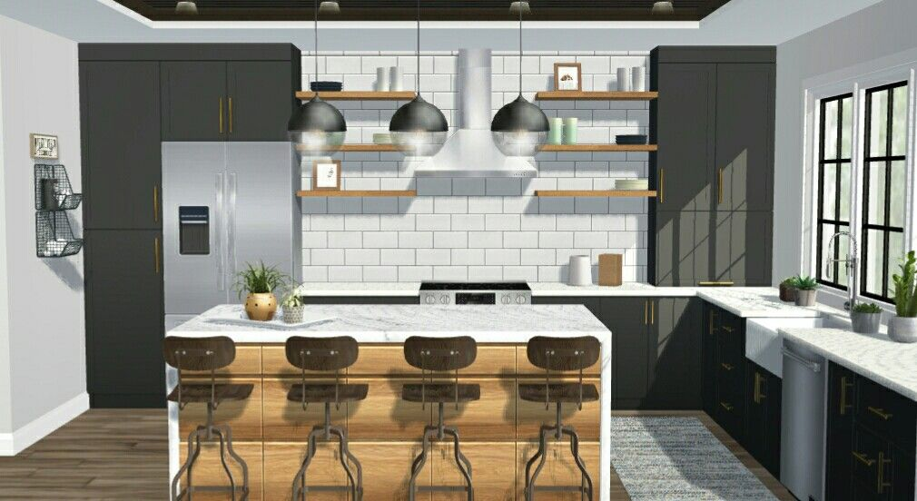 Cocina Moderna Cocina Concepto Abierto Ideas De Diseno De Cocina Diseno De Cocina