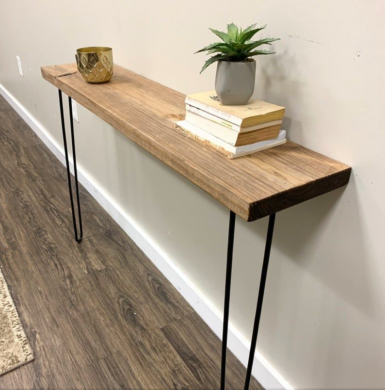 "Narrow Console Table with 28"" hairpin legs, Farmhouse"