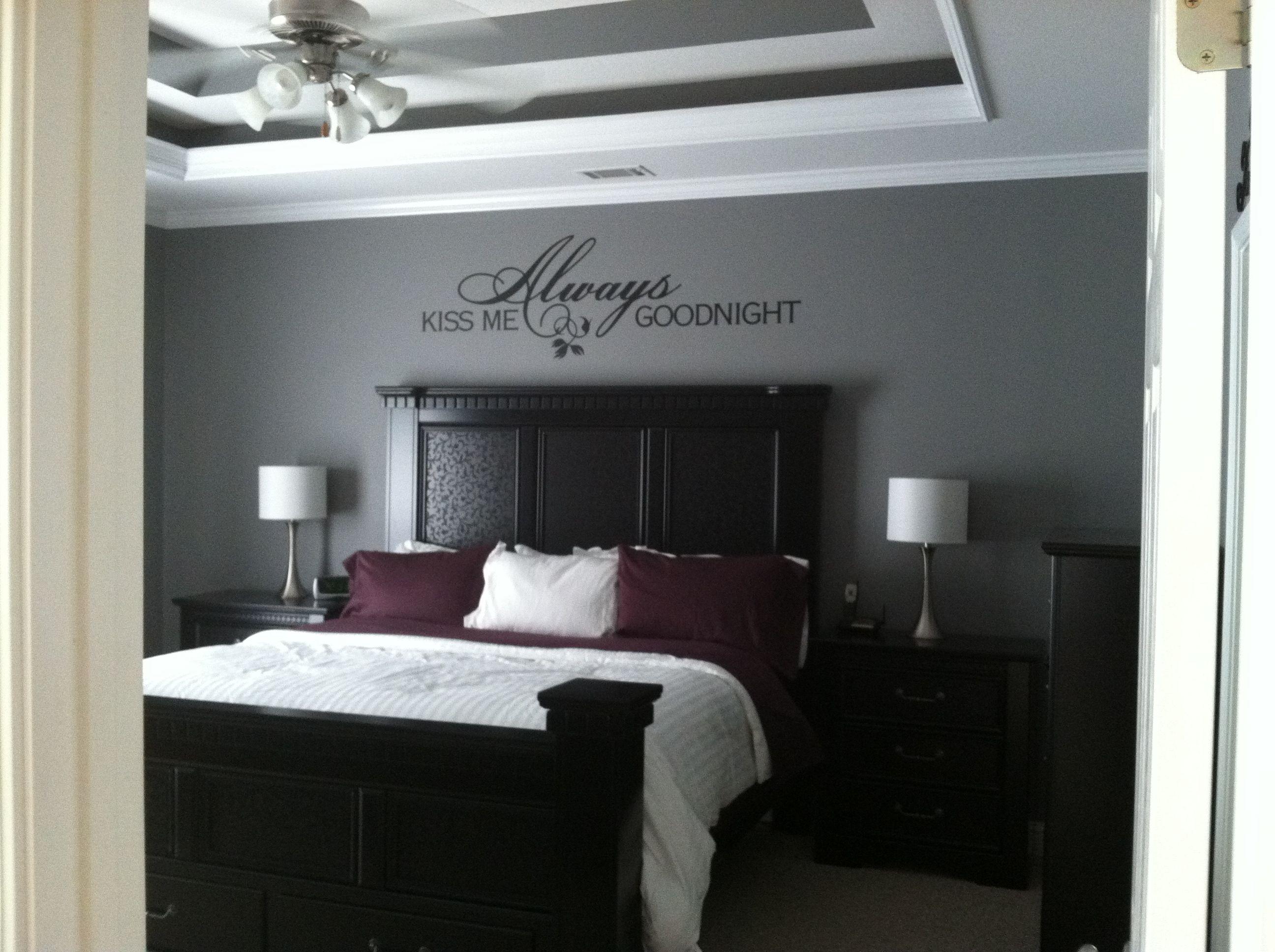 Exceptionnel New Bedroom Finished!! Grey/black/eggplant