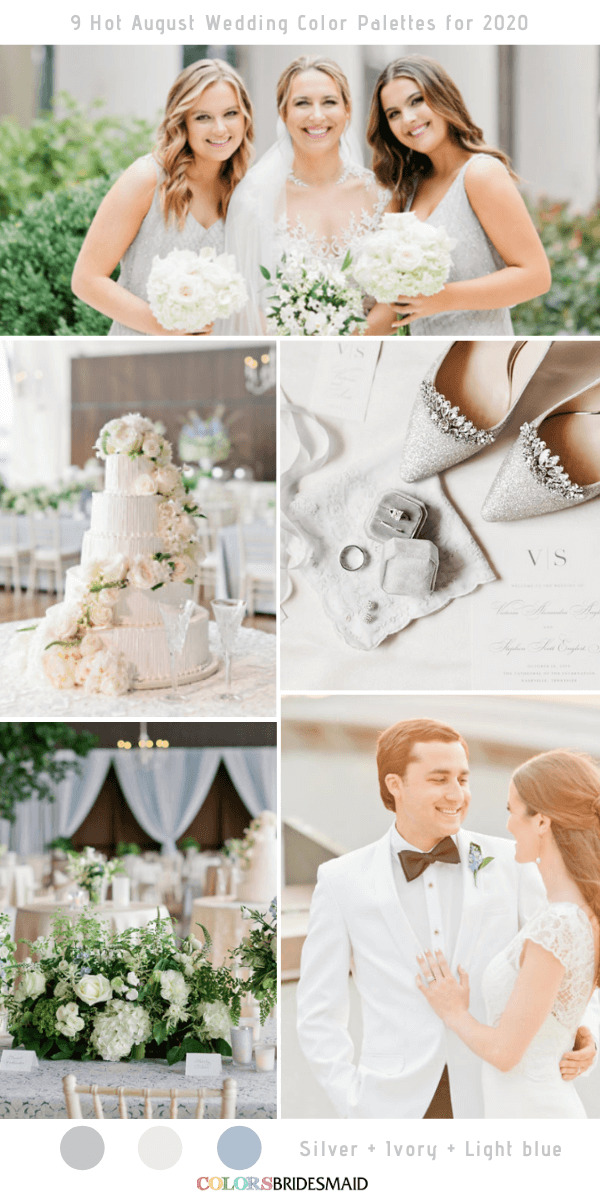 9 Hot August Wedding Color Palettes For 2020 In 2020 Wedding Colors Summer Wedding Colors August Wedding Colors