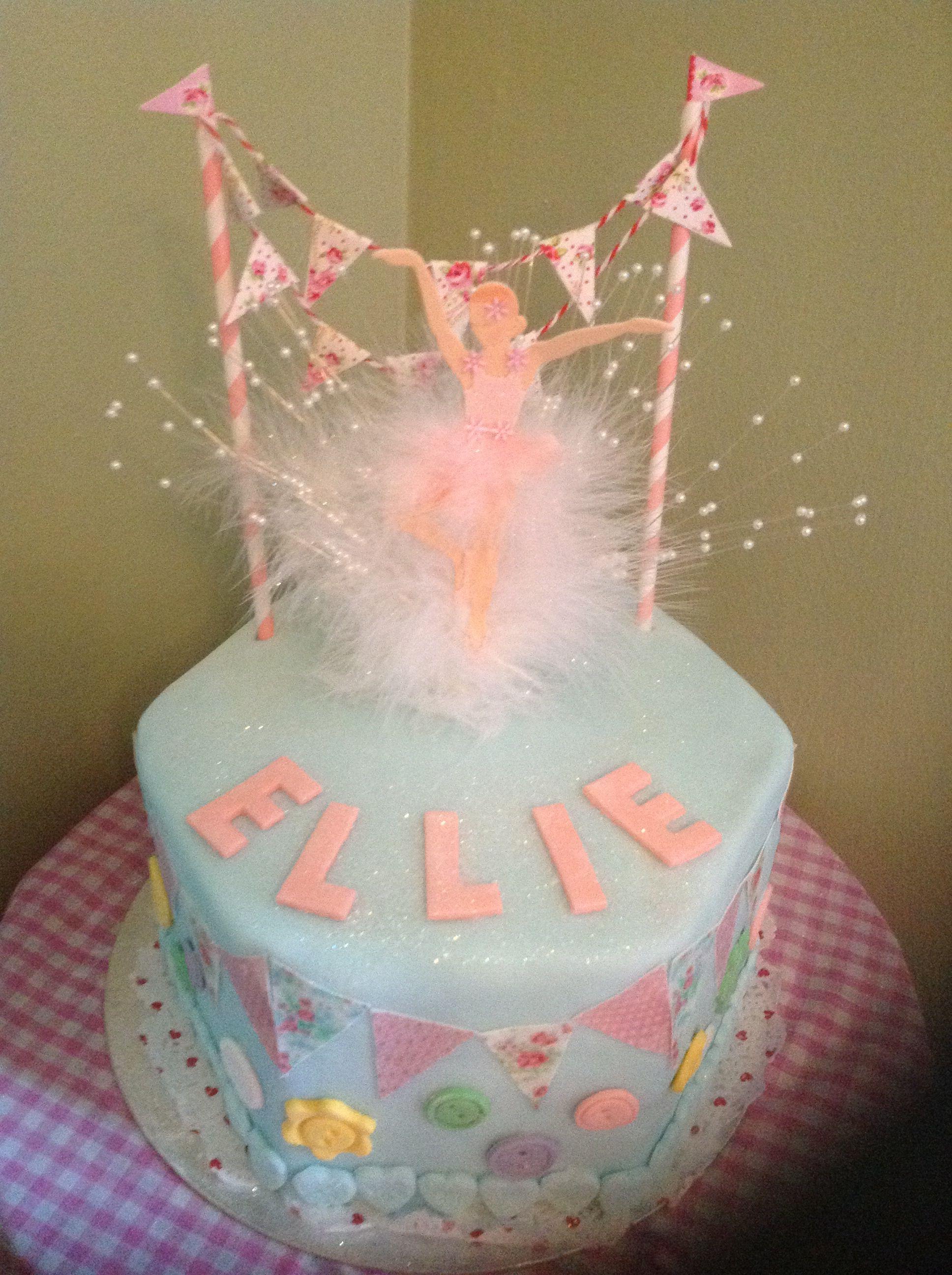Bunting Birthday Cake.