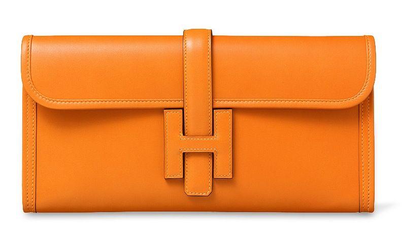 Hermès Hermes Enveloppe Garniture Crocodile En Cuir Orange Sac Rabat D'embrayage Du Soir La Sortie Commercialisable Site Officiel Vente Large Éventail De Ligne Le Plus Grand Fournisseur En Ligne Vente Nouvelle Marque Unisexe AUIERk6AmT