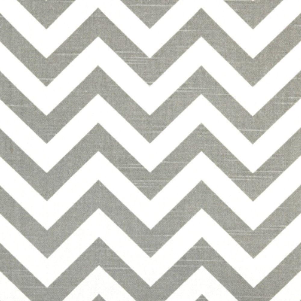 Premier Prints Fabric Zig Zag Chevron in Ash Gray and White Slub ...