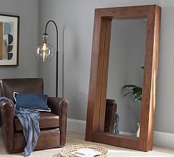 Berke Oversized Floor Mirror Pottery Barn In 2020 Teak