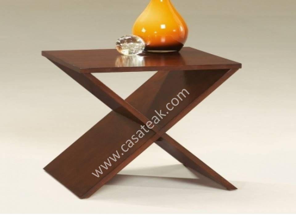 Diagonal side table, teak wood sidetables by casa teak ...