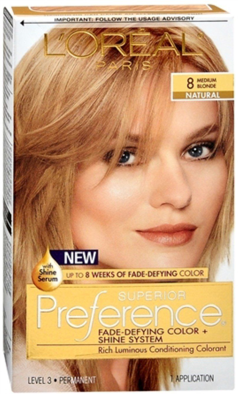 L Oreal Superior Preference Hair Color 8 Medium Blonde Pack Of 3 This Is An Amazon Affiliate Link Check Medium Blonde Medium Hair Color Beauty Hair Color