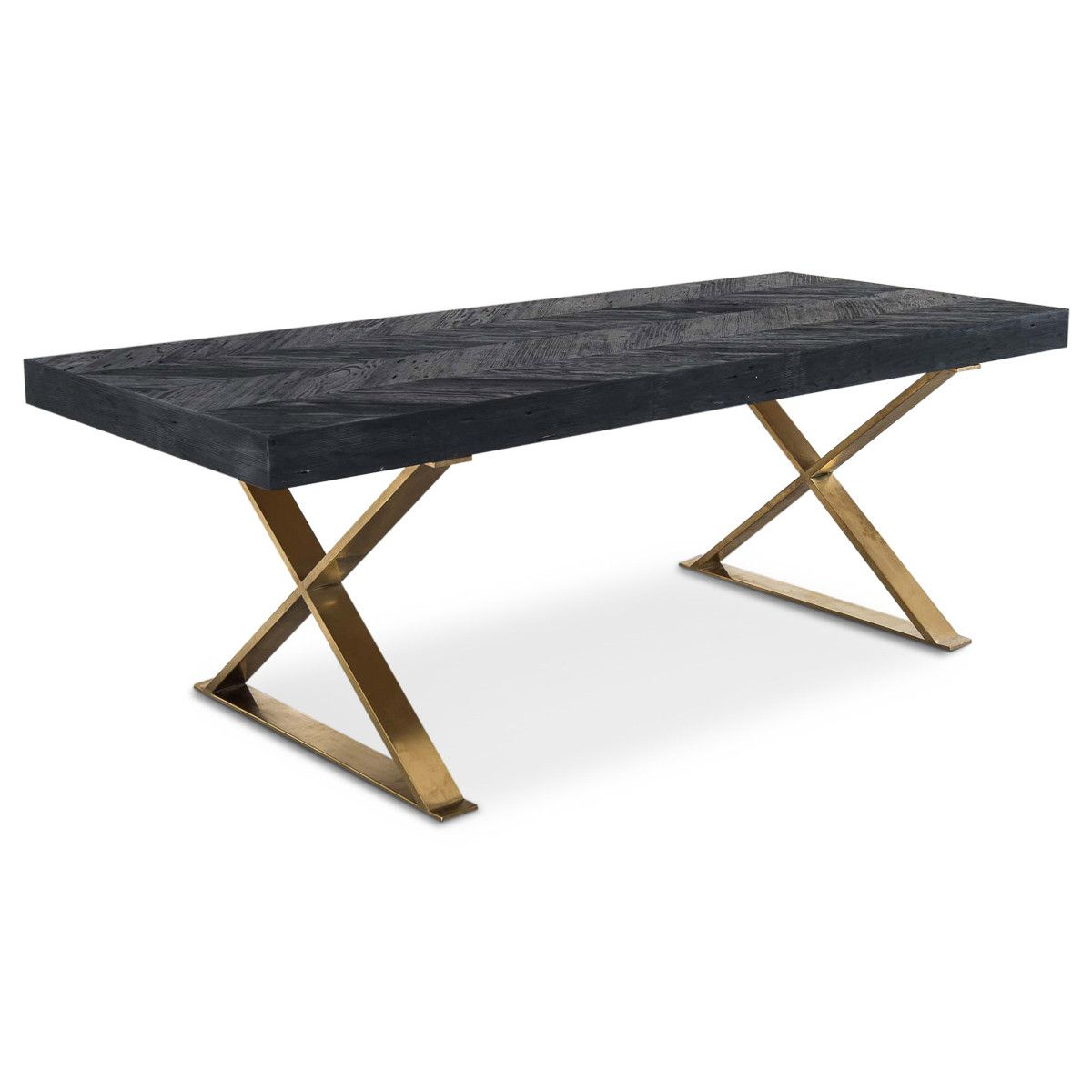 Bordeaux Desk with Brass X Legs | Desks, Fire places and Woodwork
