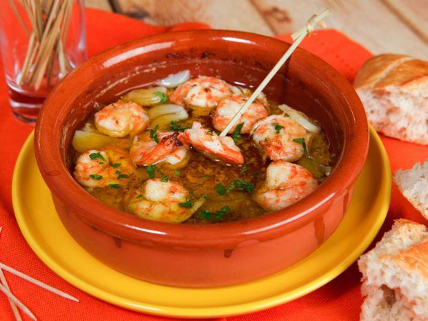 Kerstin hat aus ihrem Palma-Urlaub das Rezept für ihre Lieblingstapas mitgebracht: Gambas in Knoblauchöl! #shrimpscampi