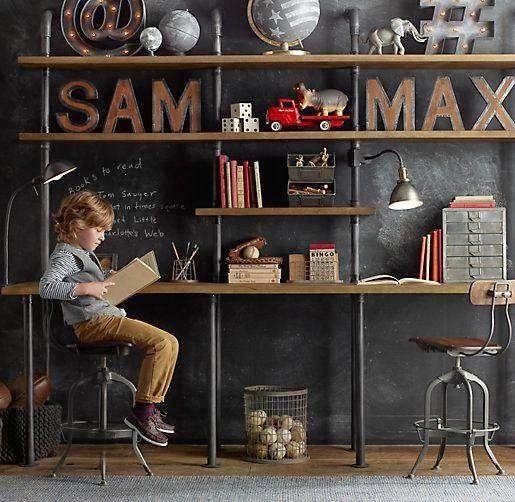 Industriële letters aan de wand - industrieel interieur | upcycle ...