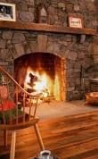 Image result for large open hearth cook fireplace