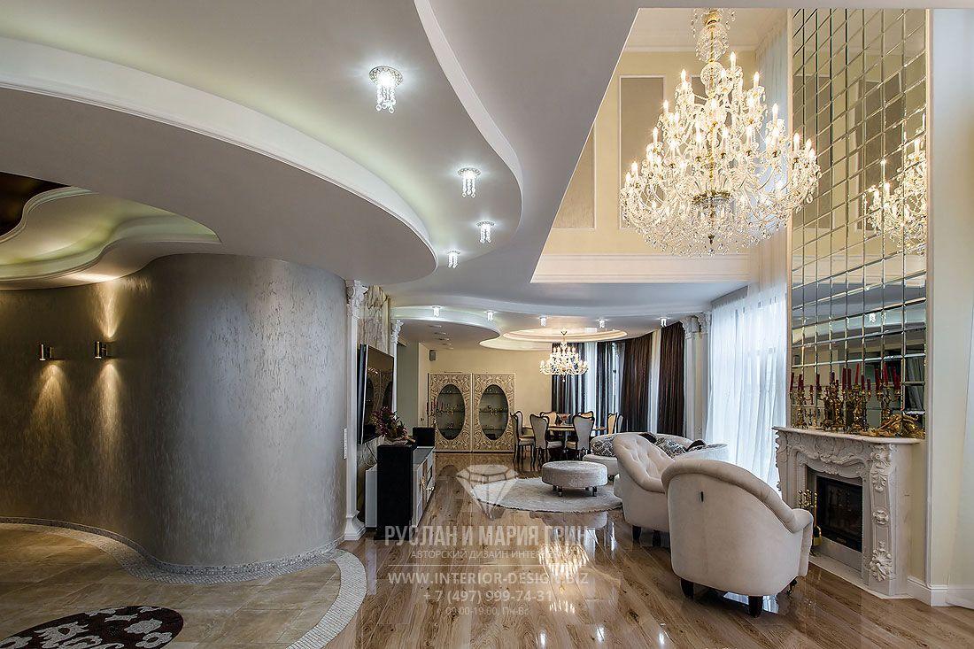 Фото интерьера гостиной в классическом стиле   Дизайн, Дом ...