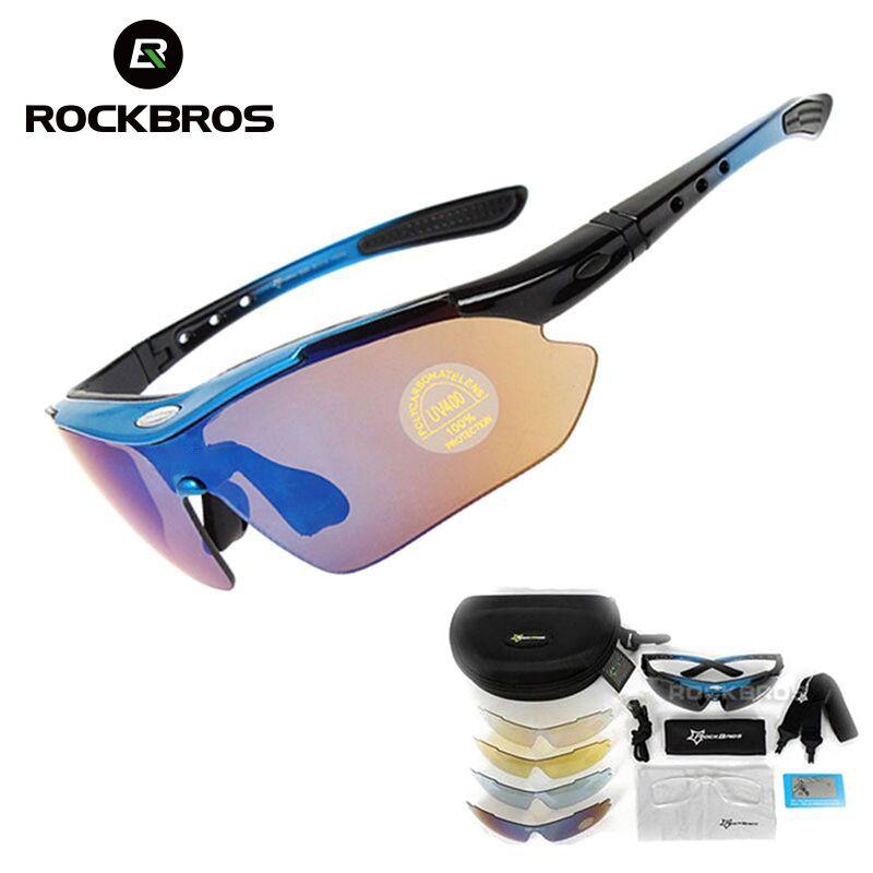 5887bf85ce RockBros Gepolariseerde Fietsen Zonnebril Sporten Fiets Bril Bike Zonnebril  29g Goggles Eyewear 5 Lens