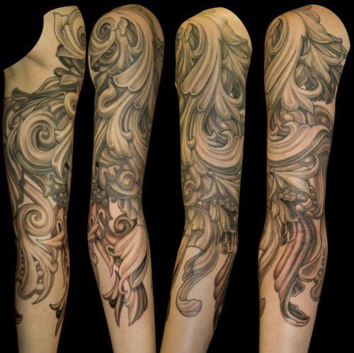 Tattoo Sleeve Filigree Tatto Tatuaże Tatuaże Rękawy I