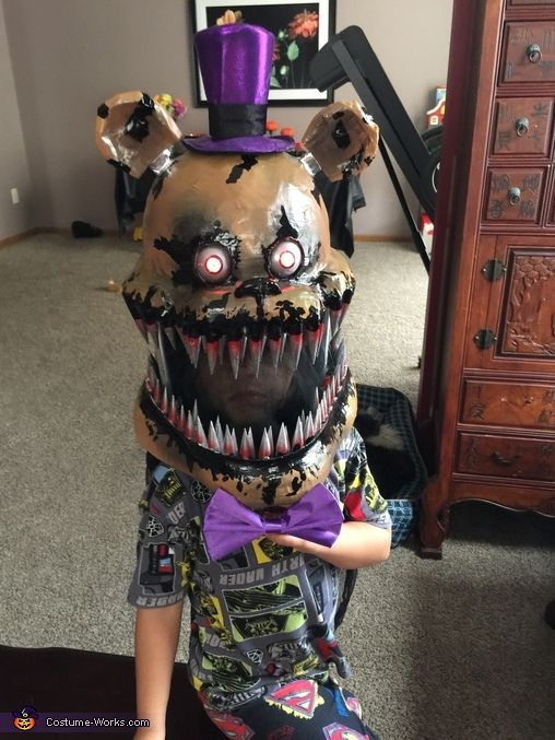 five nights at freddys and nightmare fred bear halloween costume contest