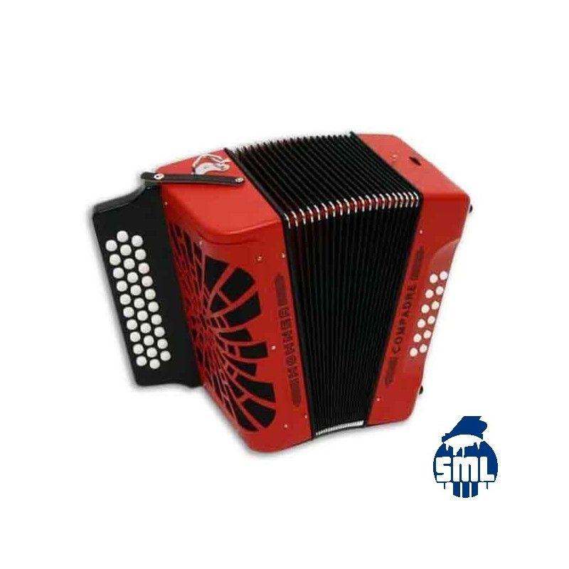 A concertina Compadre da Hohner é um modelo diatónico de duas vozes, excelente tanto para iniciantes como para acordeonistas com experiência.