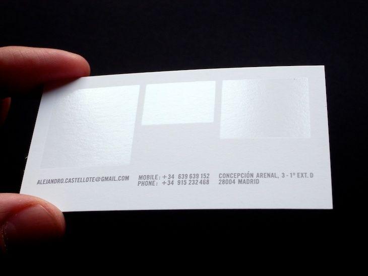 Lovely use of spot UV business cards. | Business Cards | Pinterest ...