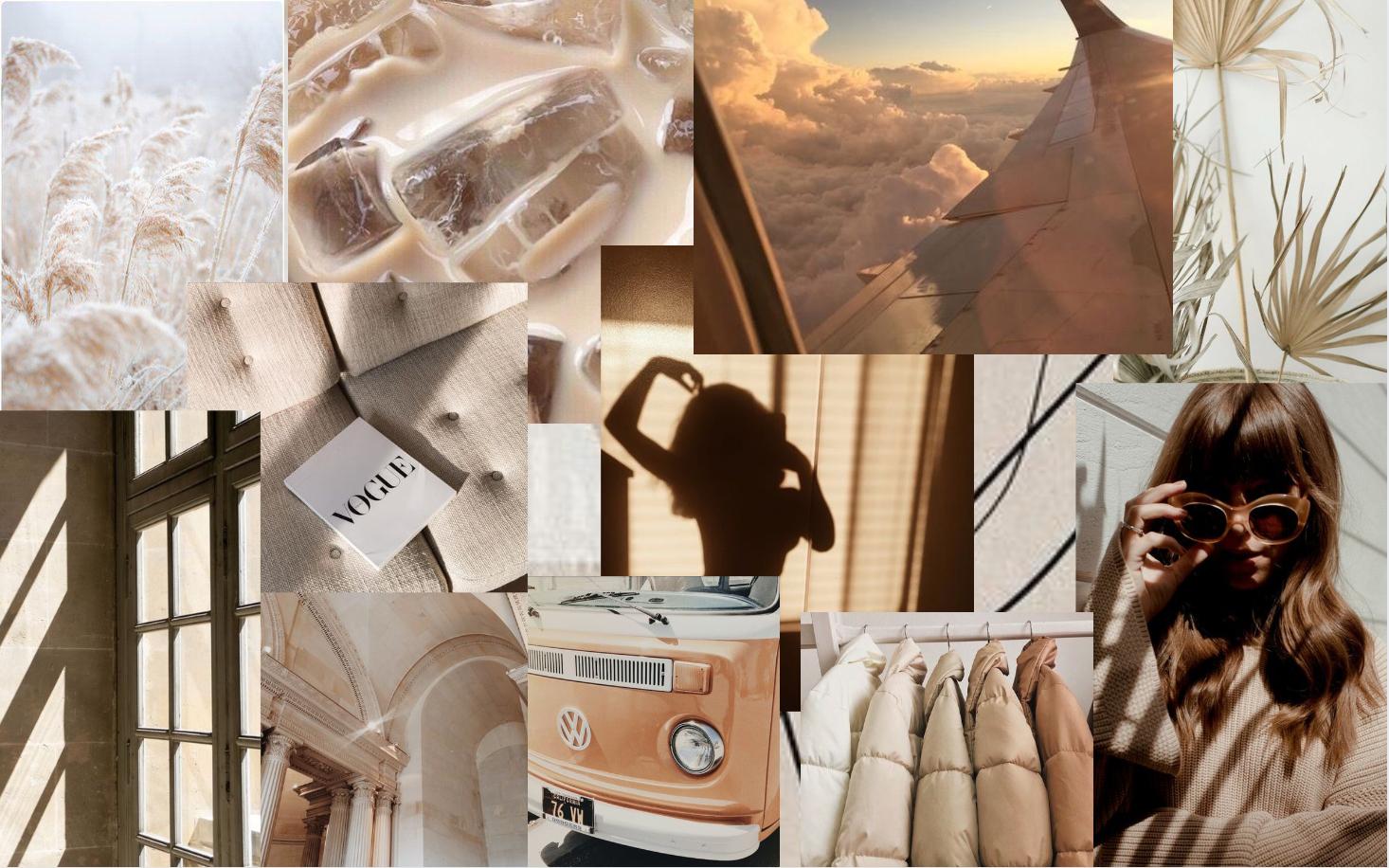 15 beige aesthetic macbook wallpaper collage pictures