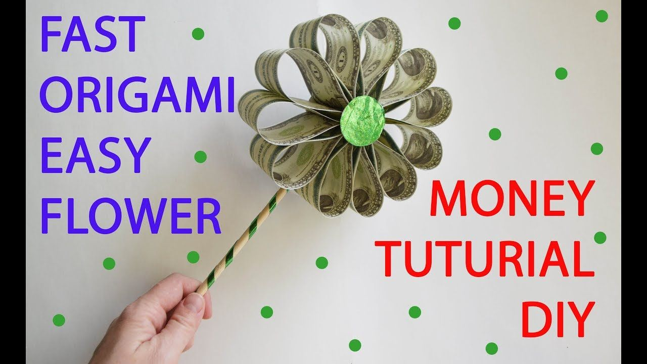 Money Origami, Flower Edition: 10 Different Ways to Fold a Dollar ... | 720x1280