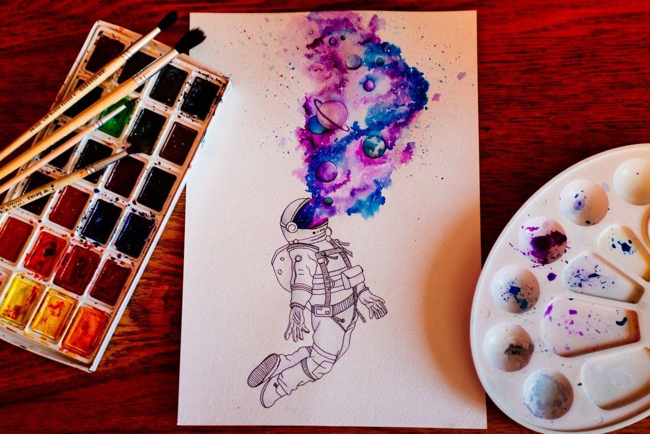 рисунки космоса и планет для детей 11 лет лёгкие оформить кредит на киви кошелек по паспорту без справок 100 одобрение