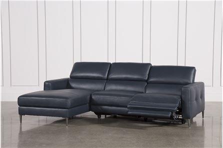 Tara Blue 2 Piece Left Facing Chaise Sofa Chaise Sofa