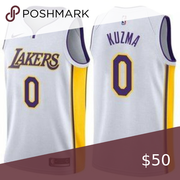 Los Angeles Lakers Kyle Kuzma White Jersey Guaranteed All Our Items Are 100 Authentic Or 100 Your Money Back Guar In 2020 White Jersey Los Angeles Lakers Kyle Kuzma