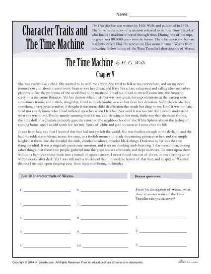 Character Traits Worksheets | Character trait and Student reading
