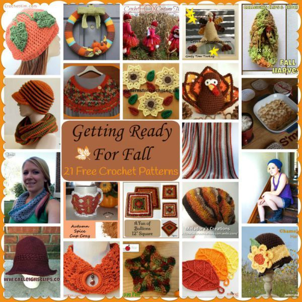 Getting Ready for Fall ~ 21 FREE Crochet Patterns