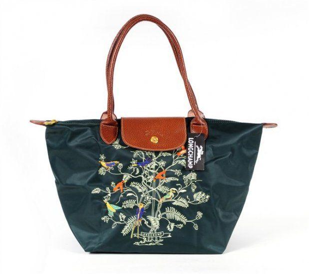 di borsa Longchamp vita della albero e verde in della di canapa Tela IqCwFBq