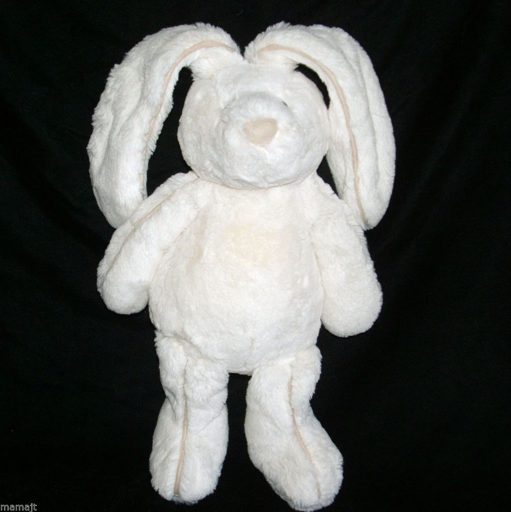 Jellycat 15 Cream Piper Bunny Rabbit Plush Stuffed Suede Trim Ivory Beige Rabbit Plush Jellycat Bunny Rabbit